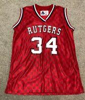 RUTGERS BASKETBALL SHAWNETTA STEWART GAME WORN / USED SIGNED JERSEY CV STRINGER