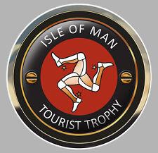 ISLE OF MAN TOURIST TROPHY TT ILE DE MAN BIKER  7,5cm STICKER RACING TRACK IA072