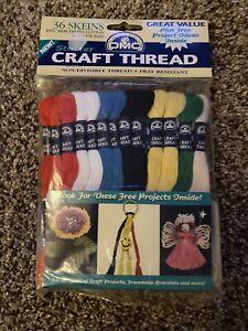 DMC Craft Thread 36 Skeins 10 Yd Each Skein Mercerized Cotton Starter Colors NIP