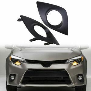 Fit Toyota Corolla 2014-2016 2015 Pair Front Lower Bumper Fog Light Bezel Covers