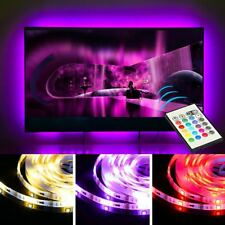5V 5050 USB LED Strip Lights TV PC Backlight Multi RGB Colour Changing + Remote
