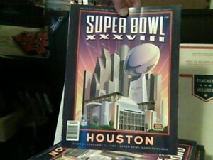 2004 SUPER BOWL XXXVIII HOUSTON Official Game Program PATRIOTS vs PANTHERS pics