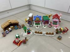 Fisher Price Little People Christmas On Main Street Santa Sleigh Nativity Lights