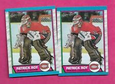 2 X 1989-90 OPC # 17 CANADIENS PATRICK ROY GOALIE NRMT-MT CARD (INV# C0123)