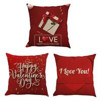 Valentine's Day Letter Pattern Pillow Cover Family Car Sofa Cusion Pillowcase