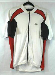 Louis Garneau Short Sleeve Jersey in White Men's Medium Imperfect Road Bike