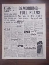 DAILY MIRROR WWII NEWSPAPER SEPTEMBER 22nd 1944 DEMOBBING - FULL PLANS