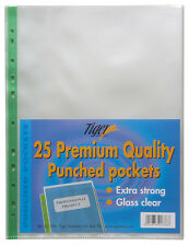 25 x Extra Strong A4 Plastic Wallets Premium + Glass Clear Poly Pockets Files