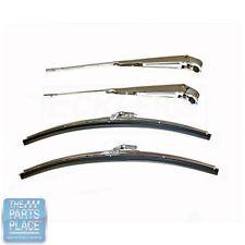 1964-67 GM Cars Wiper Arm & Blade Set - 4 Pieces