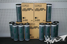 10 Genuine Riso RP S-4202 Black Inks, Risograph FR Series Digital Duplicator OEM