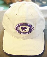 NCAA Kansas State Wildcats KSU New 1863 Beige Purple One Size Adjustable Hat Cap