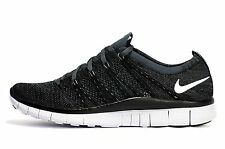 NIKE FREE FLYKNIT NSW.. BLACK/ WHITE.. SIZE MEN 8/or WOMEN 9.5.. VERY RARE!!!!