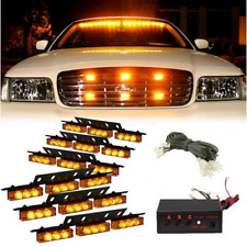 54LED Car Amber Warning Flashing Emergency Safety Recovery Strobe Grille Lights