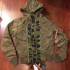 NEW ALPHA INDUSTRIES N-2B ZIPS PARKA JACKET COYOTE HOODED MJN48501C1 MEN SIZE XS