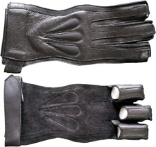 3 Finger American Archers Leather Right Hand Glove in 3 colors And In All Sizes
