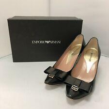 Emporio Armani Heels UK 5.5 EU 38.5 Black Bow Detailing Dressy Smart 301117