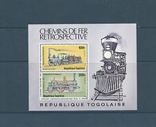 Togo bloc   trains chemin de fer  locomotive    de 1979   num:  130   **