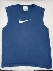 Boy's Navy Blue Nike Athletic Tank Top Small