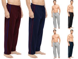 New Mens 2 Pk Contrast Stripe Lounge Pants Pajama Trousers Pj Gift Bottoms