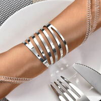 12pcs Silver Alloy Napkin Rings Holder Set For Wedding Home Banquet Dinner Decor