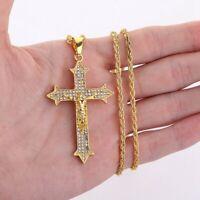 Mode Herren Kreuz Halskette Erstellt Jesus Anhänger Schmuck Pretty