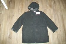 Amelia-grey hooded wool checked duffle coat.6y.BNWT.RRP 140 £