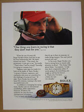 1992 Roger Penske photo Rolex Perpetual Day-Date gold watch vintage print Ad