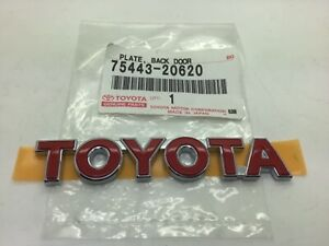 Toyota Celica Yaris Red Tailgate Name Badge Boot Rear Emblem Genuine New