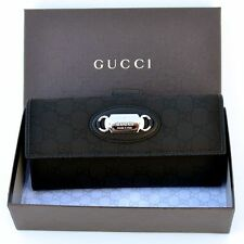 GUCCI New Authentic Designer Womens Guccissima GG Leather Nylon Wallet 231841