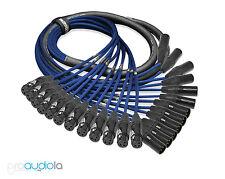 Premium Mogami 2933 12 Channel Snake   Neutrik Gold XLR-F XLR-M   Blue 6 Feet