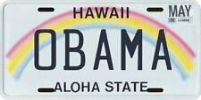 Barack Obama President Hawaii License plate
