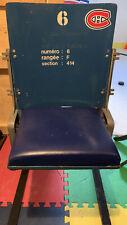 Montreal Forum Seat Original Blue
