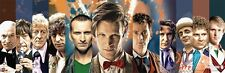 Doctor Who Doctors Collage Panorama TV Show Poster Wall Art 12 x 36 Home Decor