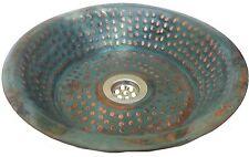 Bathroom Art Vessel 10'' Pop Up Drain Bowl Toilet Top mount Lavatory Sink Copper