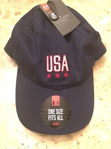 Under Armour Men's Free Fit USA Heatgear Cap New