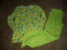 Girls Justice Green Dog/Hearts Pajama Set 2 Piece  Size 8