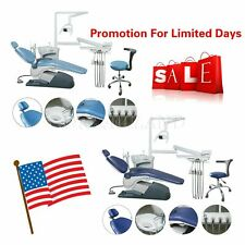 Dental Unit Chair Hard Leather Computer Controlled Dc Motor 10handpiece Fda