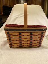 New Listing2004 Proudly American Spring basket Longaberger With Old Glory Liner