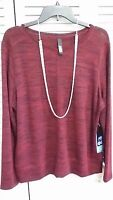 ABS by Allen Schwartz Womens Top Long Sleeve NWT Size Large
