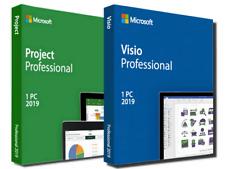 Microsoft Visio & Project 2019 Pro (32/64Bit) License Key For 1 PC - LIFETIME