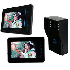 "New 7"" Wireless Video Door Phone Doorbell Intercom Kit IR Night Vision Rainproof"