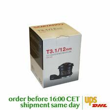 Samyang 12mm T3.1 VDSLR ED AS NCS FISH-EYE Lens for Canon EF