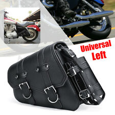 Rear Left Motorcycle Saddlebag Saddle Bag Side Pannier Universal PU Leather US