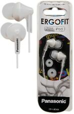 Panasonic RP-HJE125E-W WHITE Ergo Fit In-Ear Headphone Powerful sound /Brand New