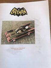 custom built lego 1966 Batmobile INSTRUCTIONS