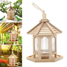 1*Wooden Bird Feeder Seed Catcher Save Bird Seed For Hanging Pole Mount Feeders