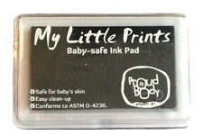 DIY Reusable BABY PRINT INK PAD Footprint Handprint Kit - BLACK - BabyPrints