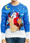 JOYIN Men's Christmas Fuzzy Reindeer Ugly Sweater for Holiday or Birthday Gift