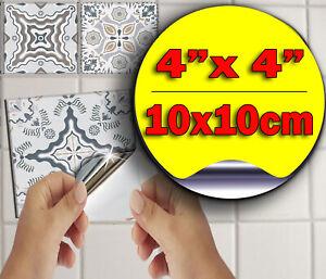 Kitchen Tile Stickers Bathroom Tile Stickers 15x15 Grey Tile Stickers 6x6 Mosaic