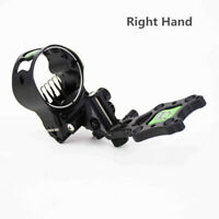 "Archery Compound Bow Sight 5 Pin 0.19"" Micro Adjustable Long Pole Hunting Black"